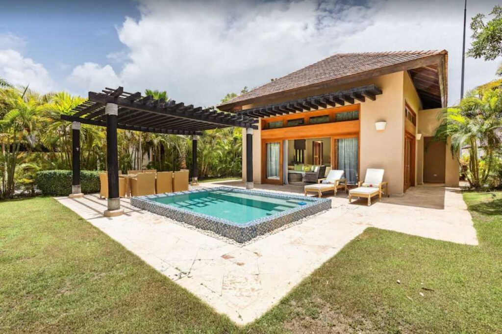 A spectacular Airbnb in Punta Cana with two private pools and a garden for 2