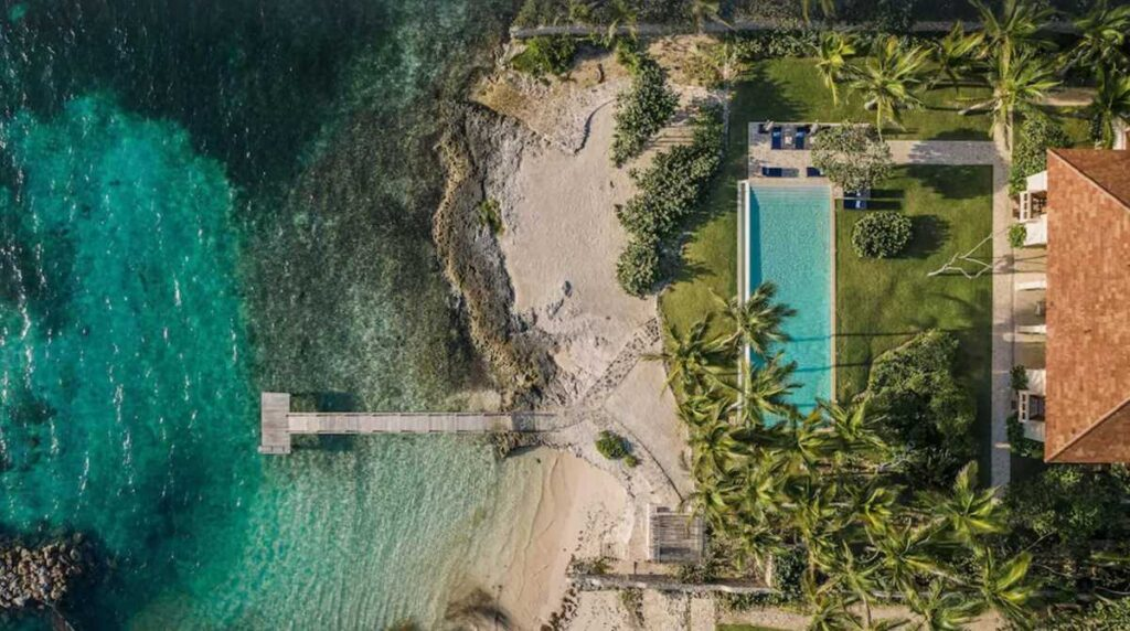 One of the most unique Airbnbs in Punta Cana, a 8-bedroom beachfront villa in Punta Cana