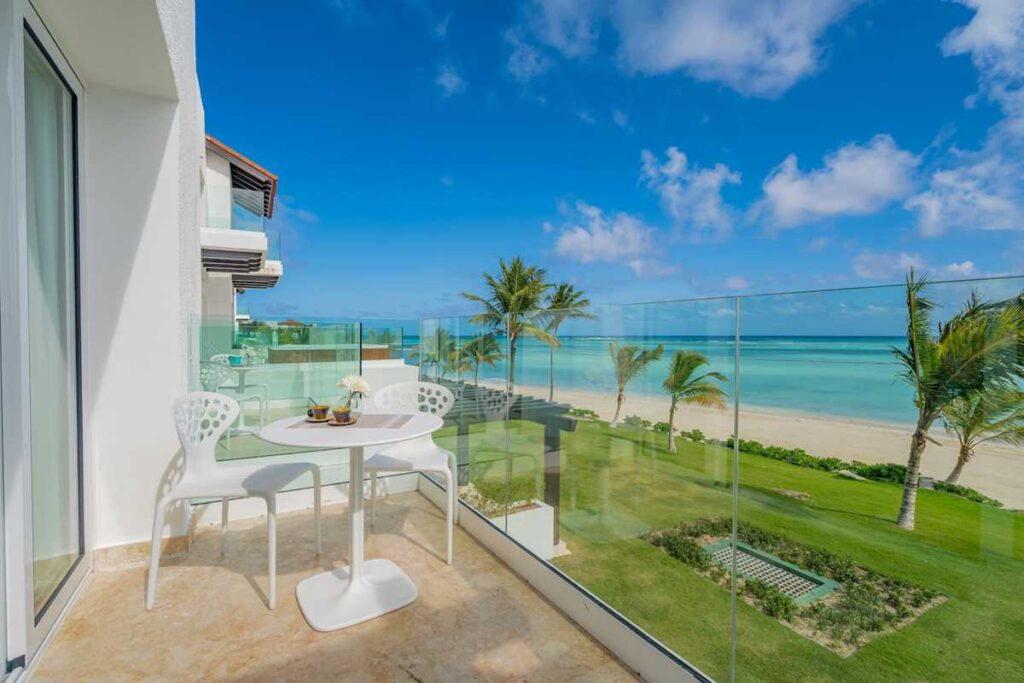 A beachfront studio in Cap Cana, bookable via Airbnb