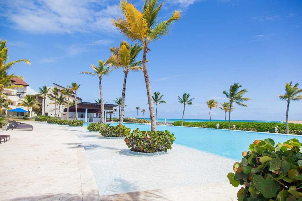 A beachfront Airbnb in Cap Cana with pool and ocean view