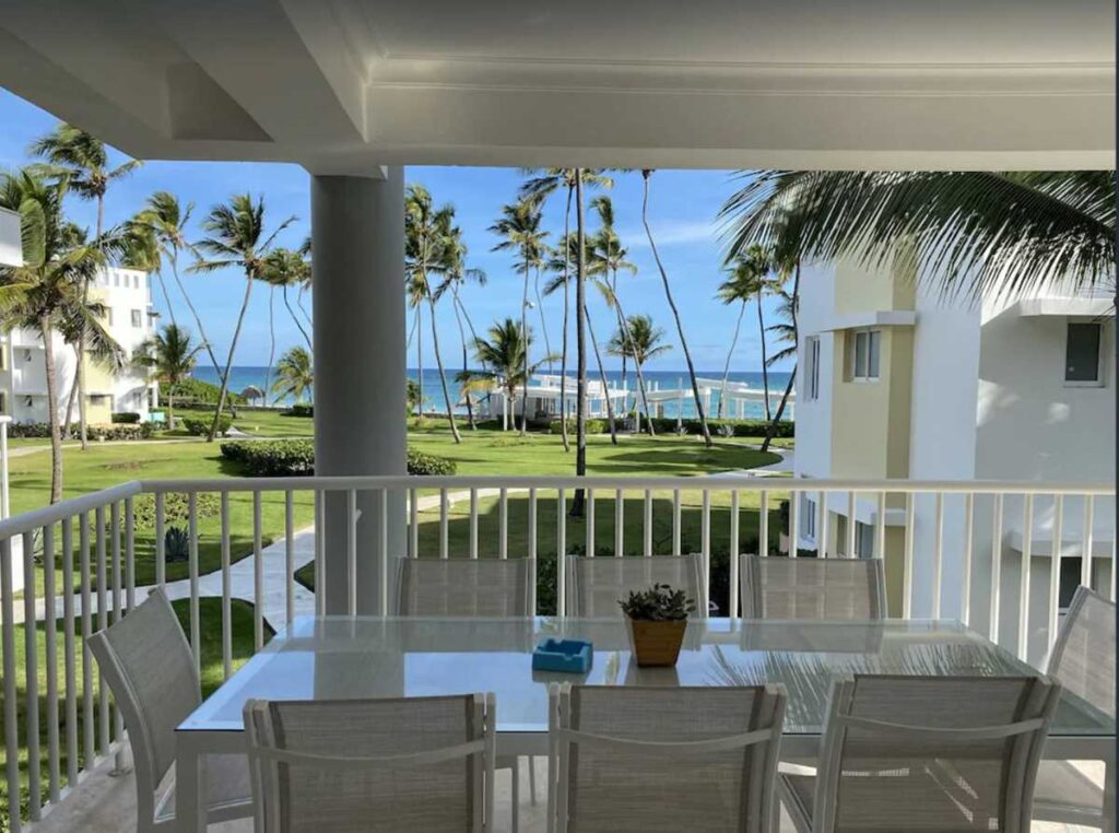 A family Airbnb apartment in Punta Cana with ocean view