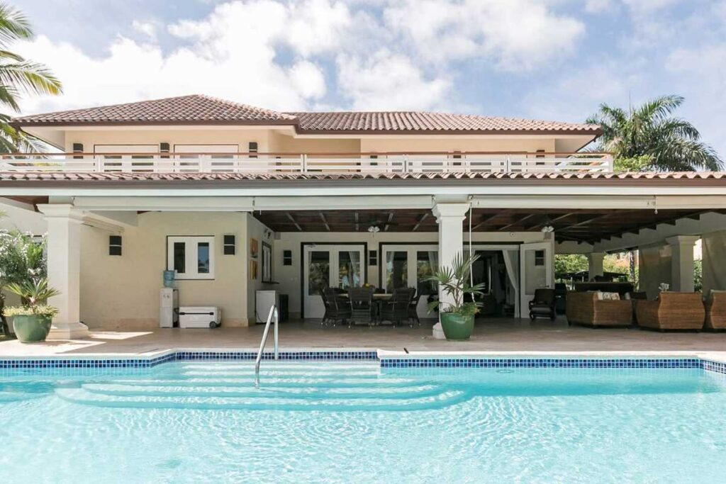 A beautiful villa-style Airbnb in Punta Cana with a large pool