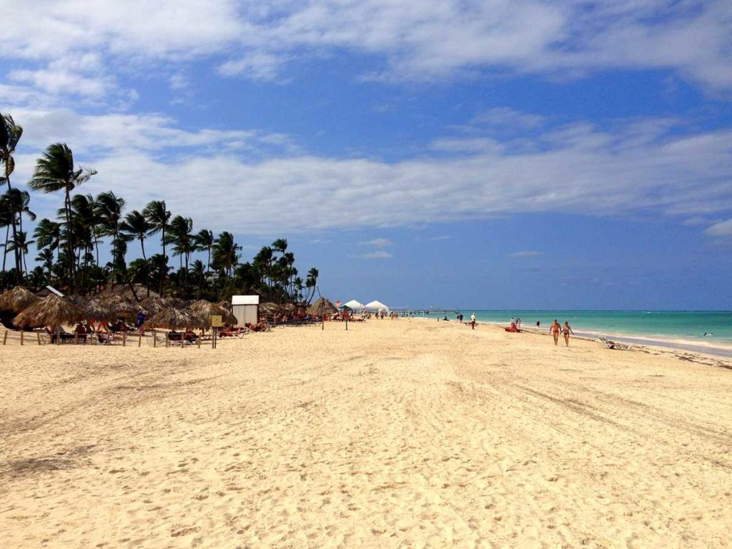 The famous Bavaro beach in Punta Cana in the area of Now Larimar Resort