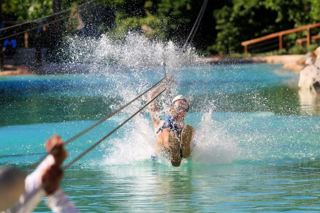 Ziplining at Scape Park Cap Cana, an adventure park in the south of Punta Cana