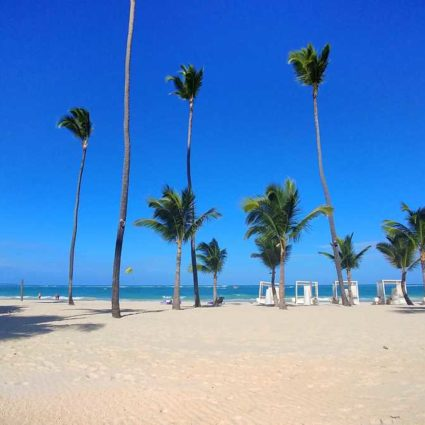 The beach of Arena Blanca in Bavaro in the area of Paradisus Resort