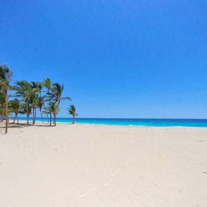 The beach Arena Gorda in Punta Cana behind Hard Rock Hotel
