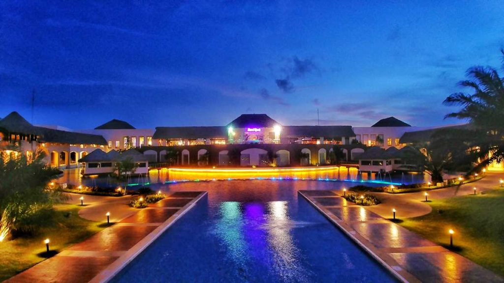 Night view of Hard Rock Punta Cana Resort and Casino