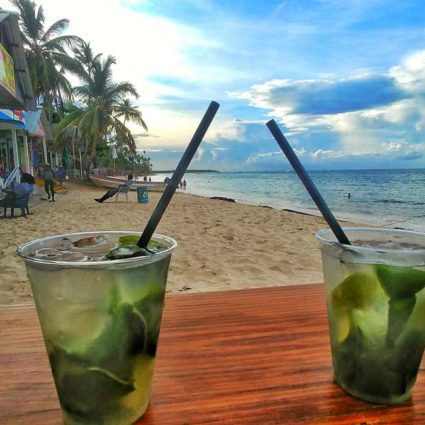 Cocktails at El Cortecito beach in Punta Cana
