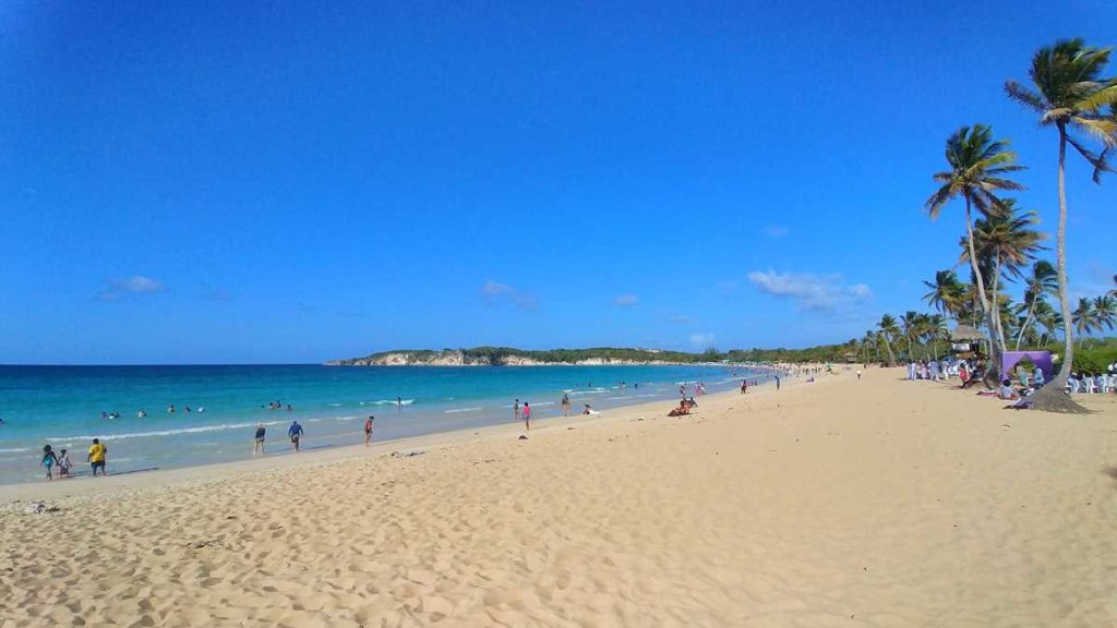 The popular Macao Beach in the north of Punta Cana