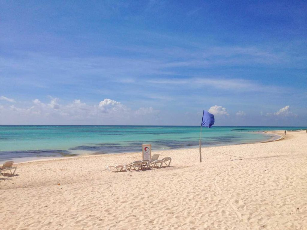 The beach of Playa Blanca in the south of Punta Cana