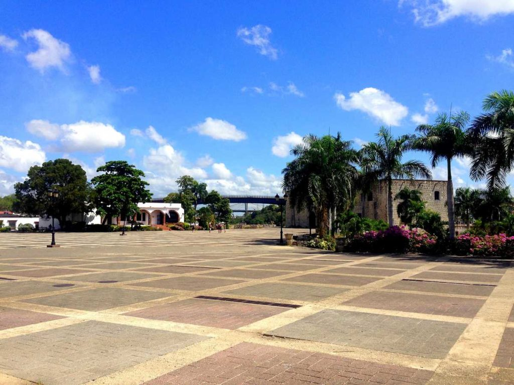 The famous Plaza Espana in the Zona Colonial of Santo Domingo