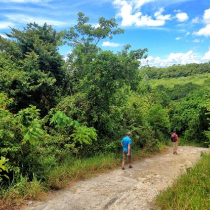 The trail to Hoyo Claro, a blue lagoon in Punta Cana
