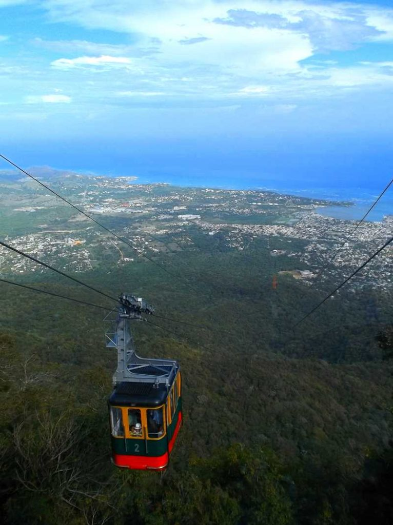 View from Montana Isabel de Torres on Puerto Plata and the cable car