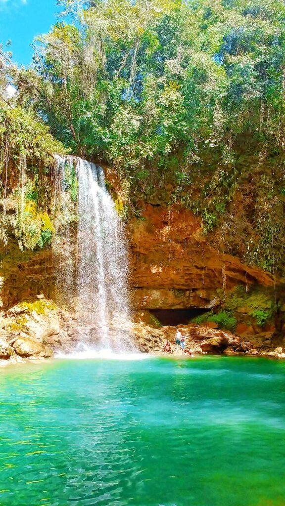 The waterfall Salto Socoa on the way from Santo Domingo to Samaná