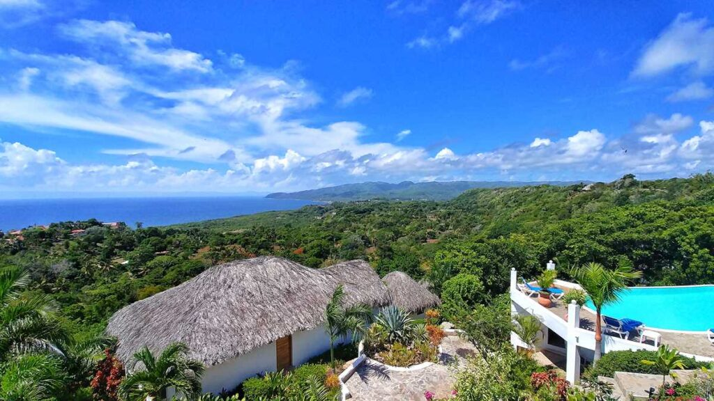 Spectacular view over Samana from Samana Ocean View Eco-Lodge