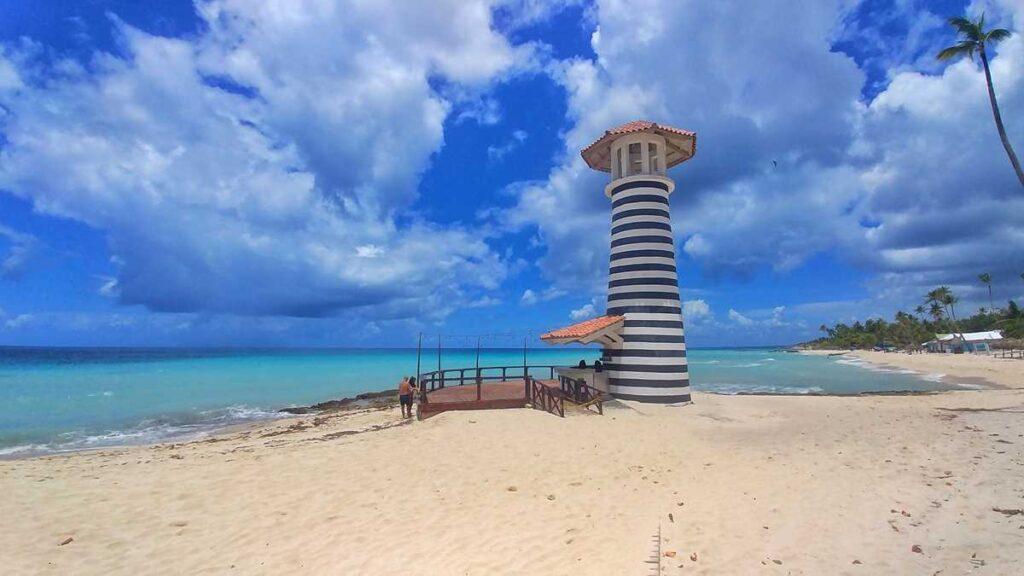 Bayahibe Lighthouse at Playa Dominicus in Bayahibe
