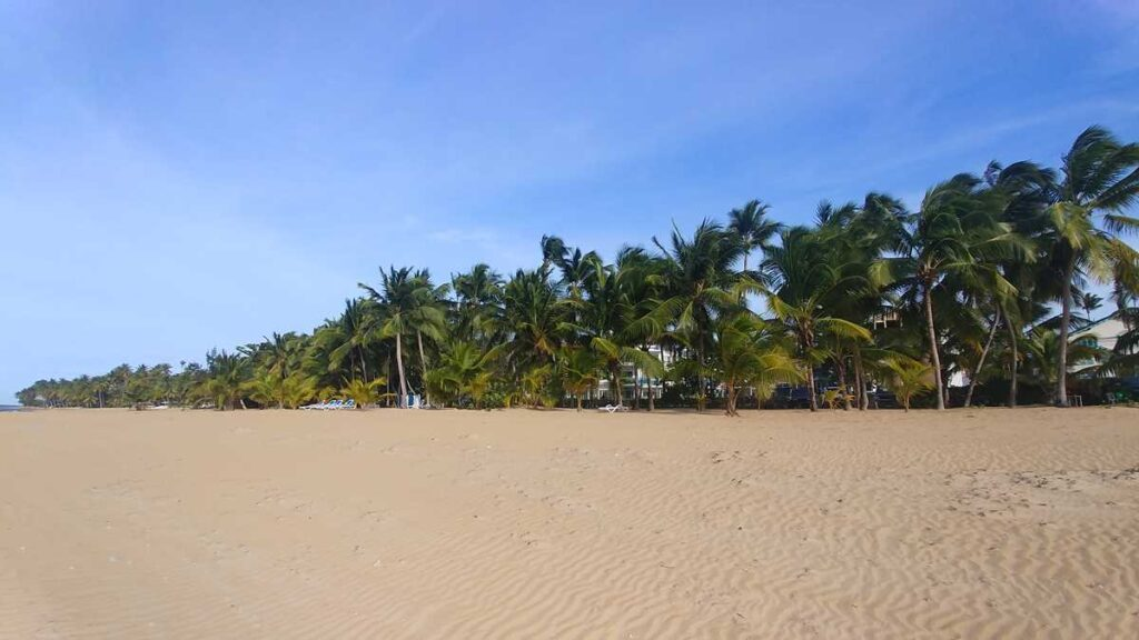 The beach of Playa Las Ballenas in the center of Las Terrenas