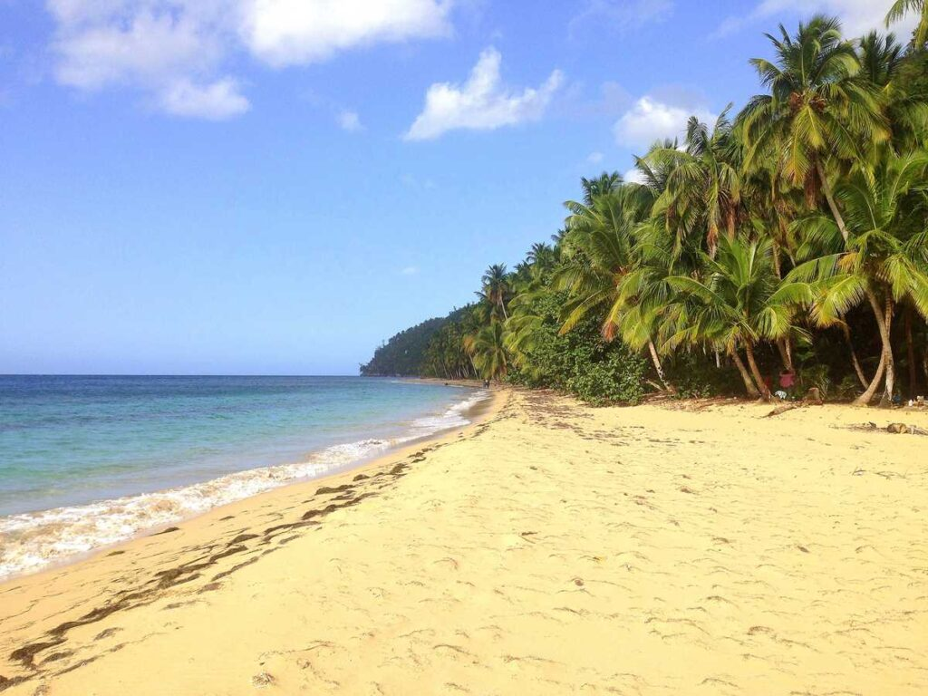 Playa Jackson, the westernmost beach on the Samana peninsula