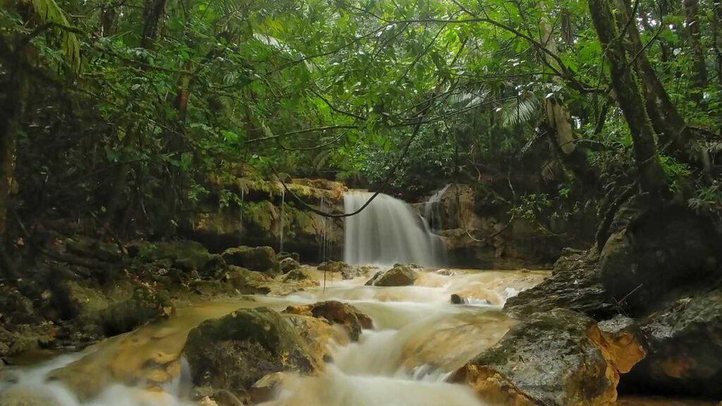 Waterfall Salto El Zumbador close to El Valle at Los Haitises National Park