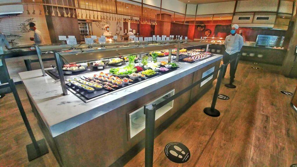 The new Dreams Macao Beach Resort in Macao, Punta Cana - the buffet World Café