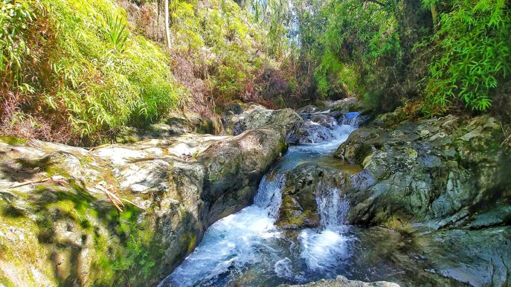 The waterfall El Arroyazo in the Nature Reserve Ebano Verde in the center of the Dominican Republic
