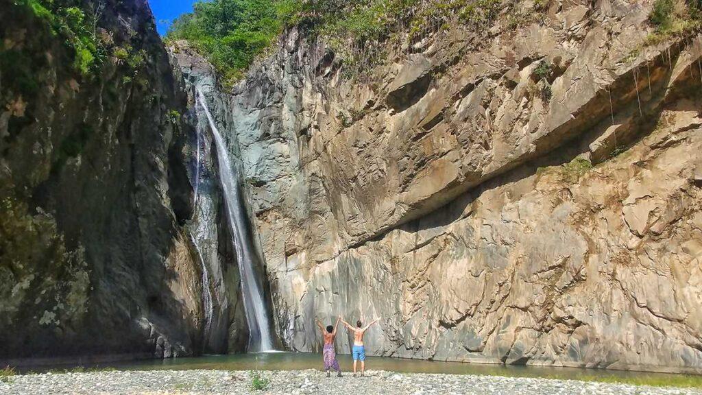 The waterfall Salto Jimenoa I in Jarabacoa