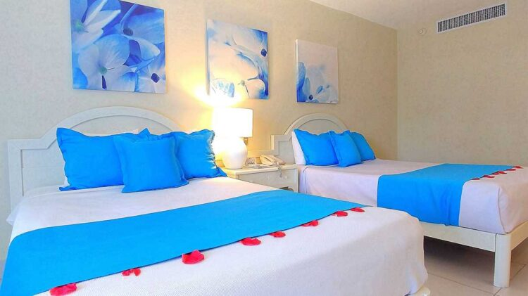 Colorful Double Room at Vista Sol, one of the many all-inclusive resorts in Punta Cana