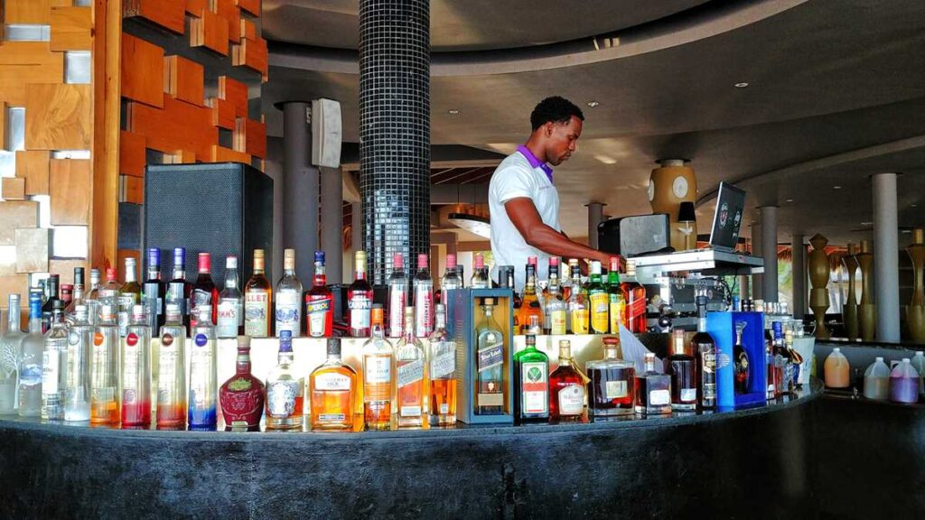 Bar at Paradisus Punta Cana, one of the many all-inclusive resorts in Punta Cana