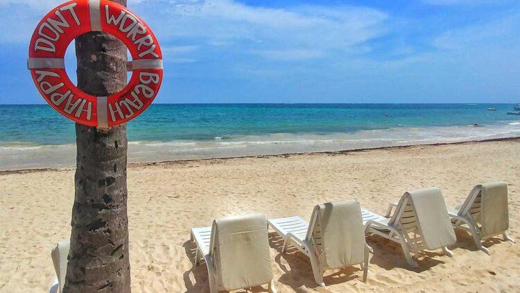 The beautiful Bavaro Beach at TOC Beach Club