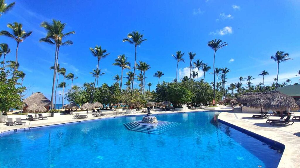 The pool area at Grand Sirenis Resort Punta Cana in Uvero Alto, Dominican Republic