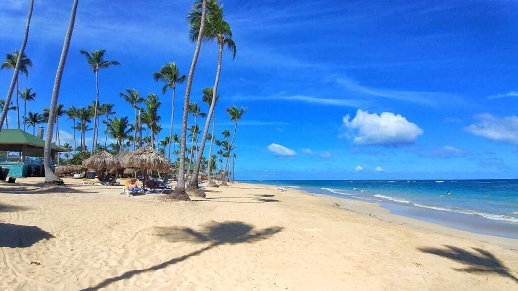 The beach at Grand Sirenis Resort Punta Cana in Uvero Alto, Dominican Republic