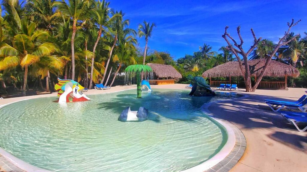 The water park Sirenis Aquagames at Grand SIrenis Resort Punta Cana