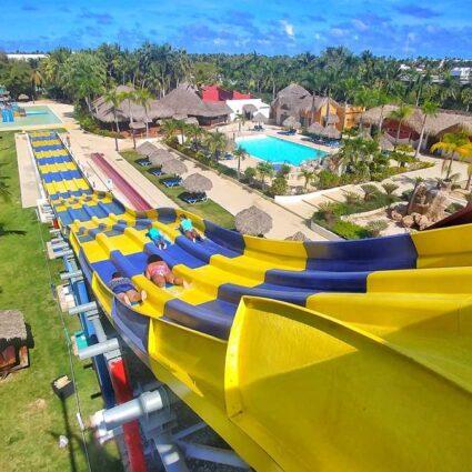 The water park Sirenis Aquagames at Grand SIrenis Resort Punta Cana