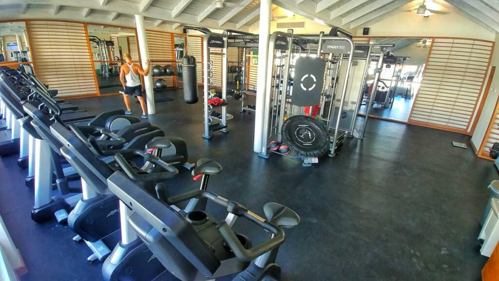 The gym at Grand SIrenis Resort Punta Cana