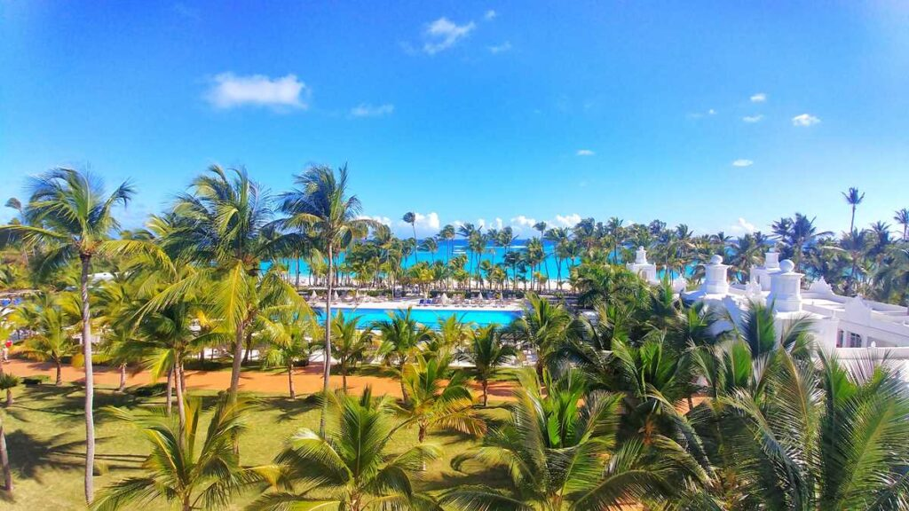 Marvelous view at RIU Palace Punta Cana, one of the several Punta Cana all-inclusive resorts