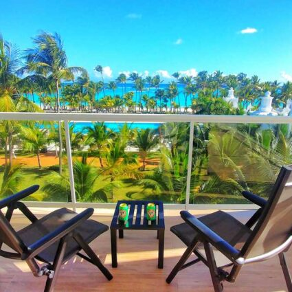 View from our balcony at RIU Palace Punta Cana all-inclusive resort