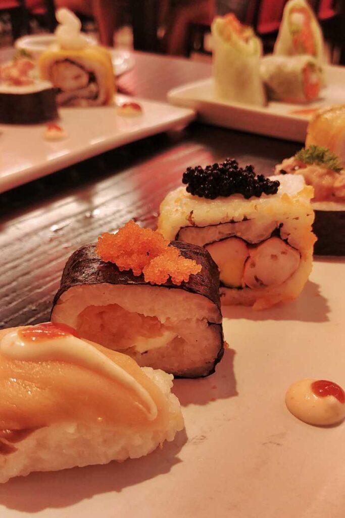 Delicious sushi at the Asian restaurant Yokohama at RIU Palace Punta Cana