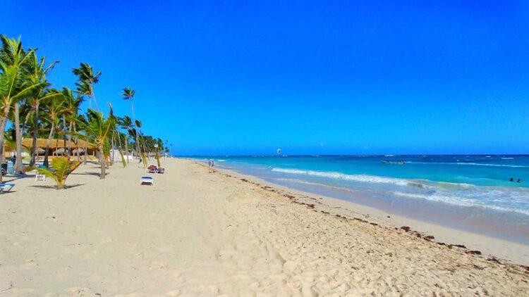 The beach at RIU Palace Punta Cana, part of Playa Arena Gorda
