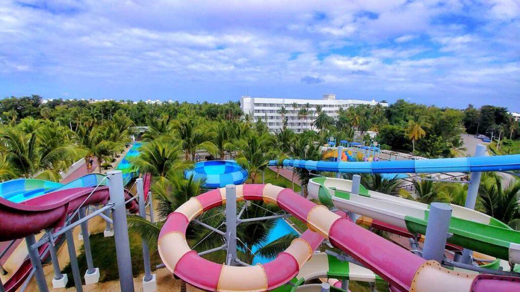 The water park Splash Water World at RIU resorts Punta Cana