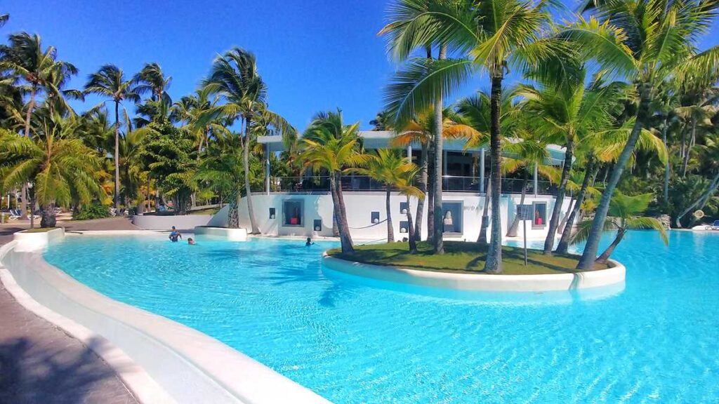 Pool at RIU Naiboa, the lowest tier of all RIU all-inclusive resorts in Punta Cana