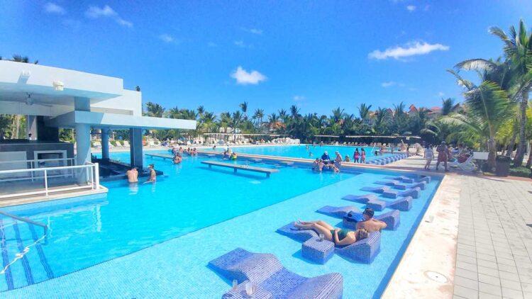 The pool at RIU Republica, one of the several RIU all-inclusive resorts in Punta Cana