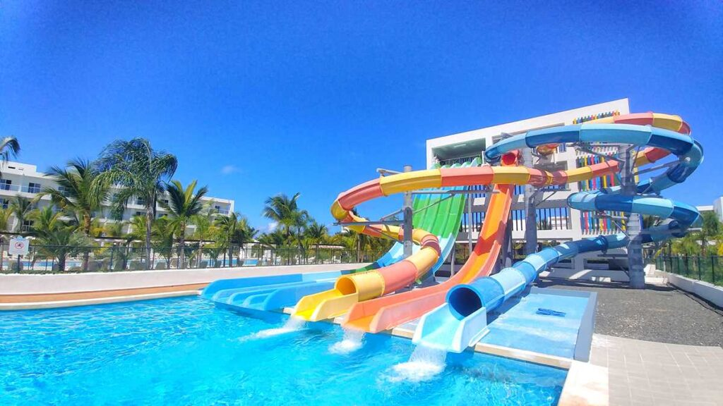 The water park at RIU Republica in Punta Cana