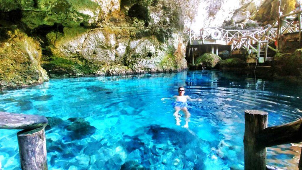 The beautiful Hoyo Azul at Scape Park Cap Cana