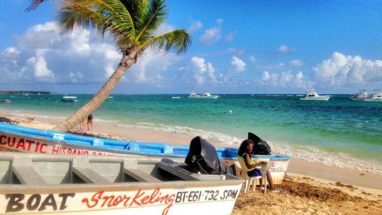 The beautiful Bavaro Beach in Punta Cana, Dominican Republic