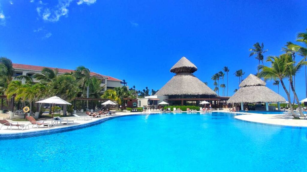 The main pool at adults-only all-inclusive resort Secrets Royal Beach