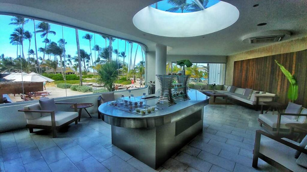 The Preferred Club Lounge at Secrets Royal Beach, the VIP level of this adults-only all-inclusive resort