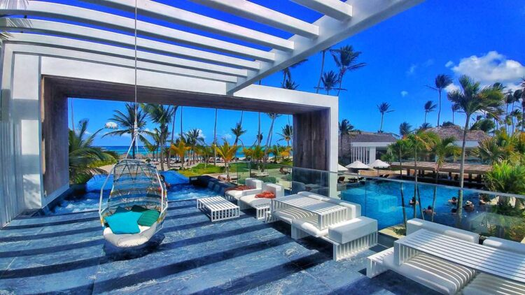 Preferred Club area at Secrets Royal Beach, an adults-only all-inclusive resort in Punta Cana