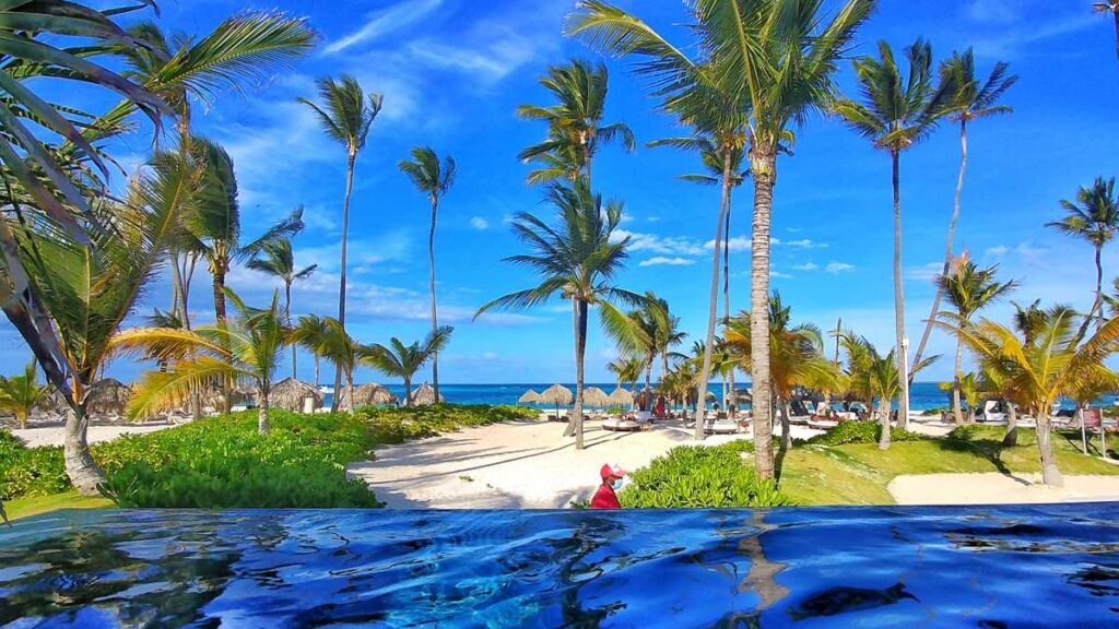 Infinity pool at Secrets Royal Beach, an adults-only all-inclusive resort in Punta Cana
