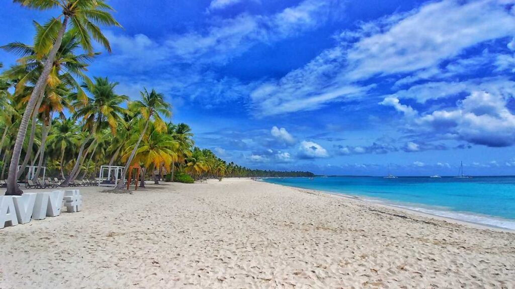Beautiful Isla Saona beach in the Dominican Republic
