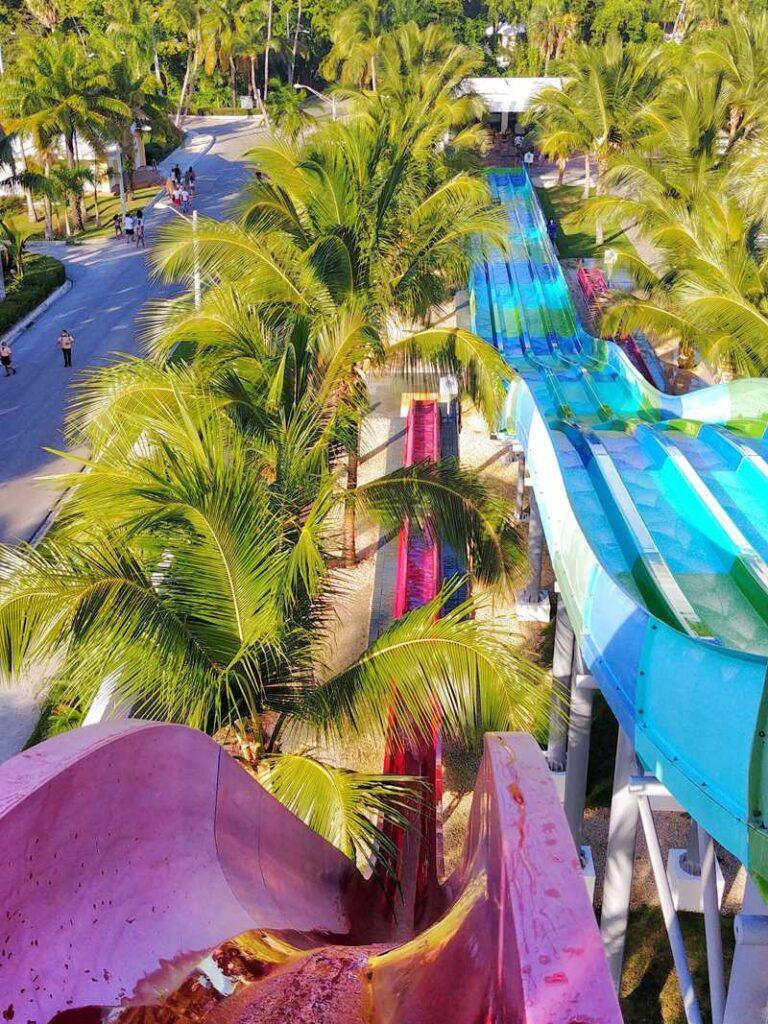 Splash Water World at Riu Resort, a large water park in Punta Cana